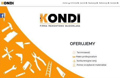 Strona internetowa firmy remontowo-budowlanej