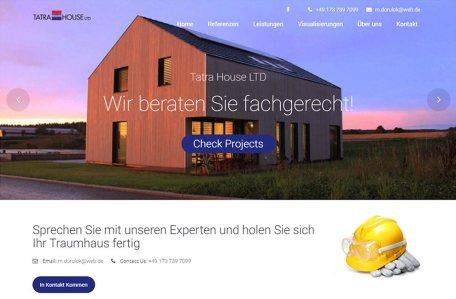 Strona internetowa producenta domów drewnianych